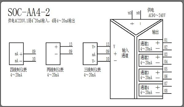 电流信号隔离分配器接线图